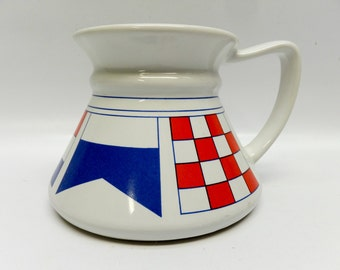 Vintage coffee mug - sailing flags