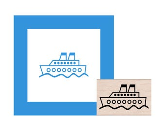 Cruise Ship and Bon Voyage Rubber Stamps