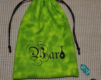 Dungeons and Dragons BARD game dice bag