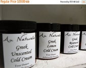 SPRING SALE Greek Cold Cream   -  Organic  -    Four Ounces  -  New Scents Available  -  Normal To Dry Skin Types  -  Organic  -   All Natur