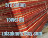 Wildfire towel Weaving kit-towels, table runner, placemats-Floor loom-Rigid heddle loom-Handwoven- Striped-weaving--Handmade-Weaving supply