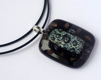Fused Glass Pendant / Fused Glass Necklace / Fused Glass Jewelry / Statement Jewelry /  Gift For Her / Elegant Pendant / Gift Ideas
