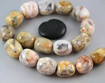Crazy Lace Agate - Large Nugget Beads - Crazy Lace - Full Strand