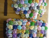 RESERVED FOR TXCINDA yo yo fabric placemats