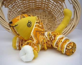 Yo Yo Puppy dog  fabric quilt nursery toy decor k9