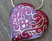 Metropolitan Museum of Art Enameled Heart Necklace