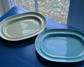 2 Vintage Carnivale Small Platters, Signature  Housewares