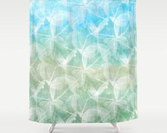 Shower Curtains, Art Shower Curtain Bathroom Bath Design 45 Blue Green Or  Pink Purple Home