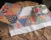 Adorable Set 2, Potholder and Matching Towel, Vintage Repurposed Quilt