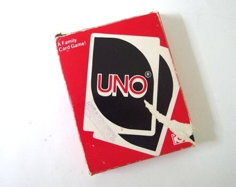 Vintage Uno Card Game, 1979 - Complete with Instructions