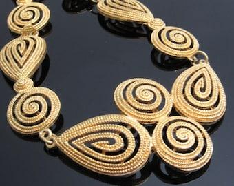 Wide Vintage Necklace Pendant Avon Jewelry N7612