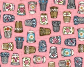 Dan Morris Thimble Pleasures 100% cotton fabric - Special order for customer thimblyjina - 4 yards