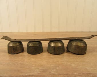 Nice set of 4 antique brass carriage bells