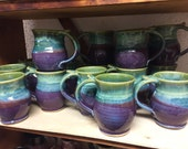 DISCOUNTED Mug purple light blue