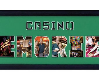 Custom Photo Frame/Casino Memories Photo Collage 8x26 (mat only)