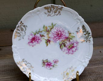 Antique Victorian Embossed Floral Plate