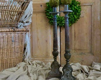 Vintage Lovely French Altar Candlesticks...Perfect French Interior Design