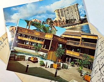 vintage post cards from Hawaii 80's Royal Hawaiian Hotel The Wharf Lahaina