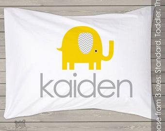 Elephant pillowcase / pillow - custom personalized  pillowcase great birthday gift PIL-020