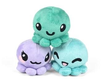 Octopus Stuffed Plush Toy with Animal Variations Fox Kitty Panda Alpaca Bunny