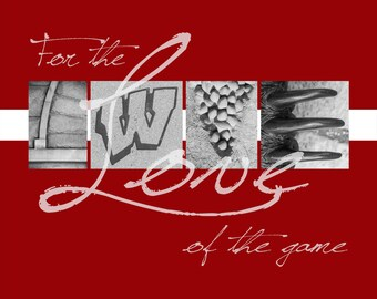 "University of Wisconsin Badgers ""For the Love of the Game"" Photographic Print"