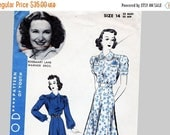 on SALE 25% OFF 1940s Reserved Vintage Hollywood Pattern Rosemary Lane 1940s Dress Pattern size 14 UNCUT Bishop Sleeve Shirtwiast Dress Go