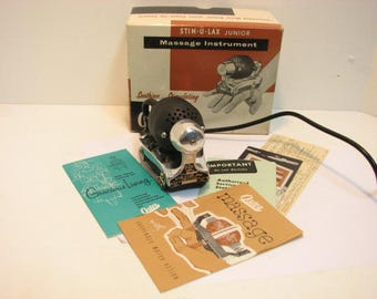 Oster Massage Stim-U-Lax junior in Box Model M-4, Complete Vintage Massager in Original Box