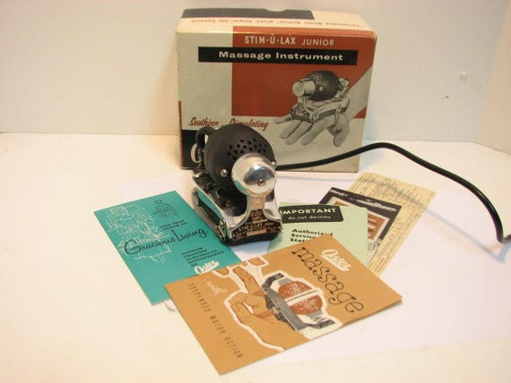 Vintage Oster Massage Stim-U-Lax junior in Box Model M-4, Complete Massager in Original Box