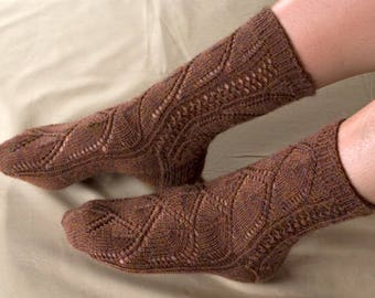 Archways Toe Up Sock Knitting Pattern - PDF