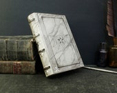 White Leather Journal with Silver Decoration, Triple Goddess