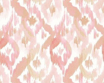 Abstract Blush Pink Fabric - Blush Ikat Diamonds By Crystal Walen - Blushing Cotton Fabric By The Yard With Spoonflower