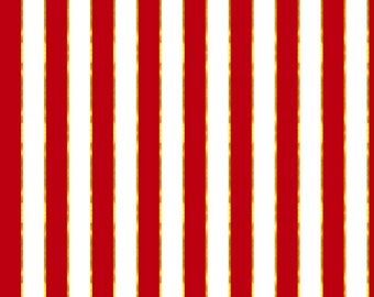 Red and Gold Stripe Fabric - Puttin' On The Ritz Stripe In Red And Gilt By Willowlanetextiles - Cotton Fabric By The Yard With Spoonflower