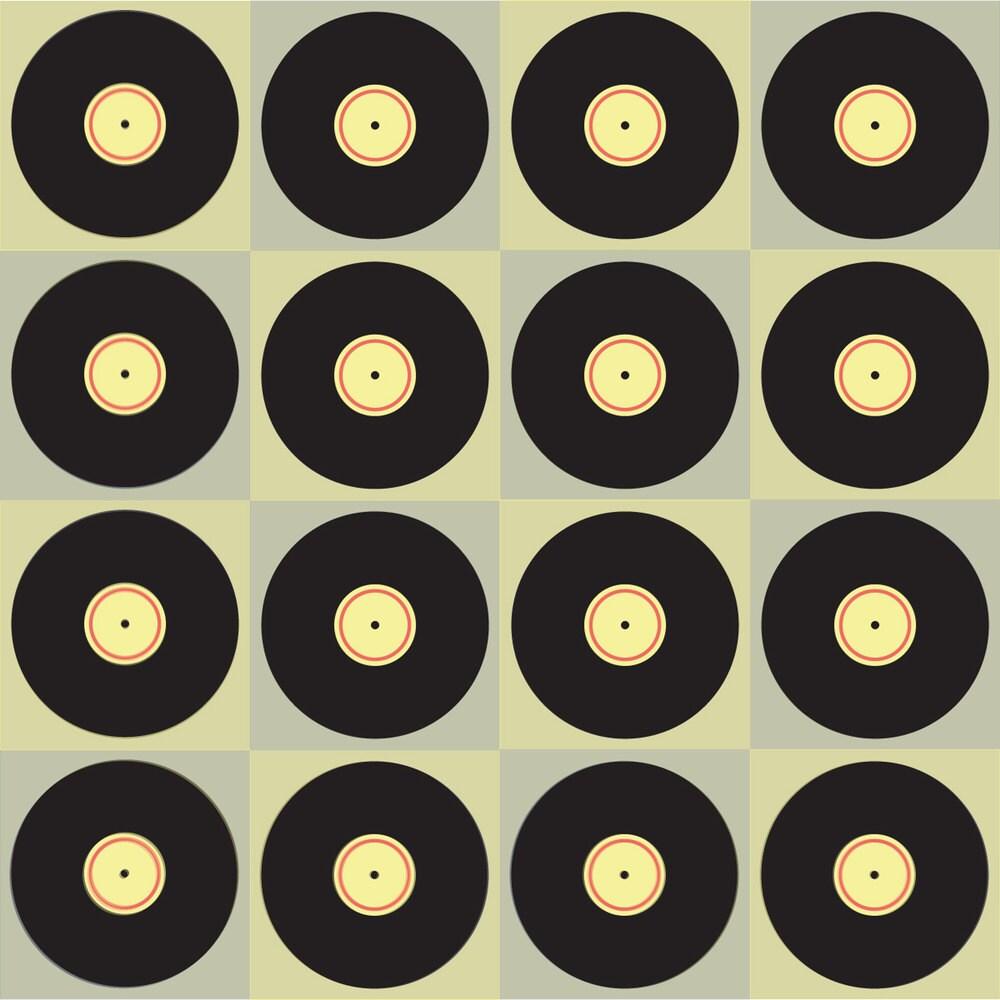 Vinyl Record Music Fabric Retro Vinyl By Ravynka Vinyl