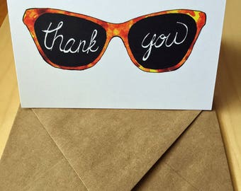 Sunglasses Thank You Card