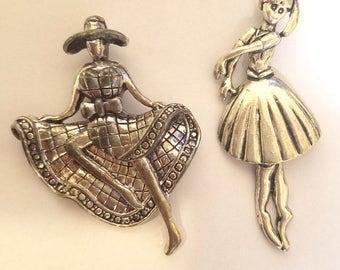 ballerina dancer girl pendant metal dancing lady charm ballet dance jewelry