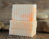 Orange Peel Handmade Soap / Shampoo - Superfatted Conditioning Soap - Cold Process Hand Made Soap - Vegan - 6 Ounce +/- Bar