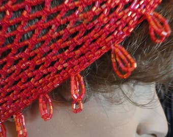 Red Cleopatra Cap Sz Large