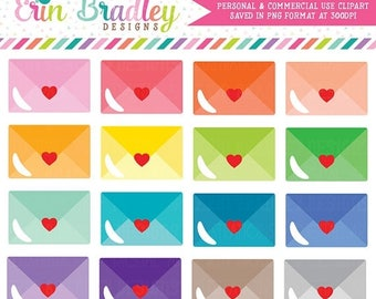 50% OFF SALE Love Letters Mail Clipart Personal & Commercial Use Envelope or Happy Mail Clip Art Graphics