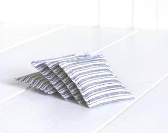 Mini lavender sachets, Lavender bag, Dried Lavender flowers, Lavender scent, Scented mini bag, Blue White Stripes, Organic Lavender Sachets