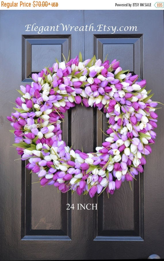 SPRING WREATH SALE Custom Spring Wreath, Spring Decor, Mother's Day Wreath,  Wall Decor, Custom Colors, Spring Decoration  The Original Tuli