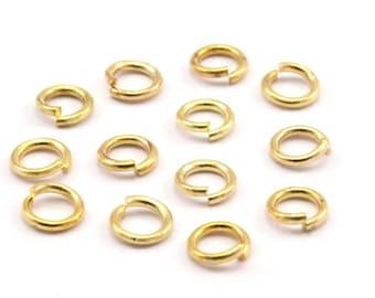 4mm Jump Ring - 1000 Brass Gold Tone Jump Rings (4x0.70mm) K626