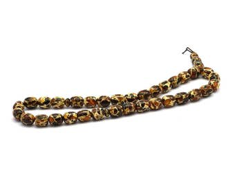 33 Pieces Amber Rosary (10x9mm) T094