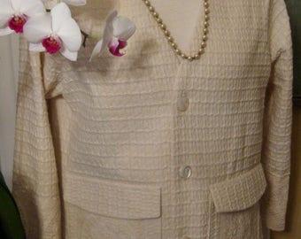 ON SALE/ Waffle Weave Cotton Jacket