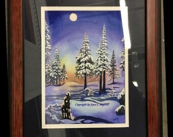 Tahoe Winter Moon