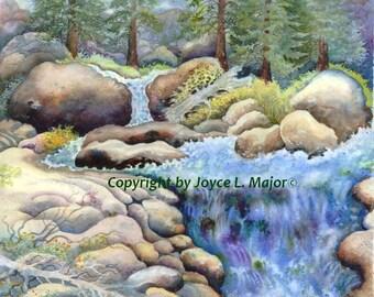 Snowmelt at Squaw Creek