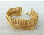 On Sale 40% Off Mesh Bracelet, chic design, modern bracelet, nautical bracelet