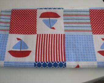 Nautical Sailboatl baby crib/receiving blanket