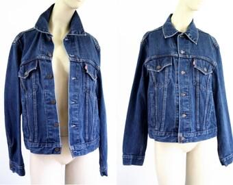 Vintage Medium Wash Levi Unisex Denim Jean Jacket