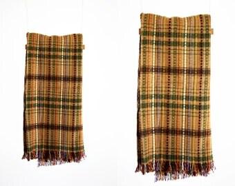 Orange Tones Lightweight Vintage Petite Size 70's Retro Throw Blanket