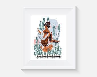 Queen Of Coralia Art Print
